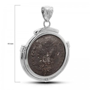 COLGANTE EN PLATA MONEDA ANTIGUA 44MM