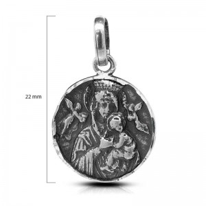 MEDALLA PLATA VIRGEN-22MM